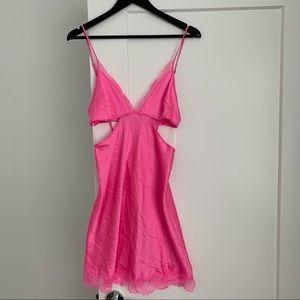 Victoria Secret Hot Pink Cutout Slip.
